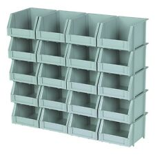 20 Piece Poly Bins And Rails For Storing Nut Bolt Washer Household Items Etc!