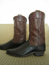 So Rare!! Vintage Custom HYER Alligator Cowboy Boots !! sz men's 9.5 to 10