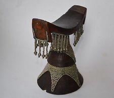 AFRICAN TRIBAL ART GOOD OLD HEAD REST Ethiopian Oromo Carved Wooden neck rest