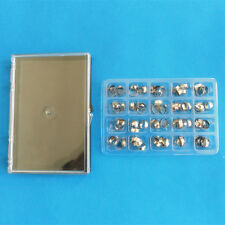80PCS Dental Orthodontic Bands kit with buccal tube Roth Bands #16-35