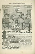 1921 Hartman Furniture Co. Ad Chicago Arts and Crafts Style Desk Chairs Lamp
