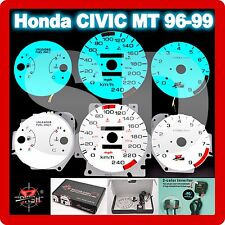 Honda CIVIC 1996-1999 MT KPH  Glow Gauge Panels Dashboard Indiglo