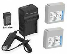 TWO 2 Batteries + Charger for Samsung HMX-H105 HMX-H105BP HMX-H106 HMX-H106BN