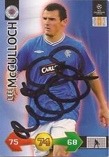 RANGERS LEE McCULLOCH SIGNED CHAMPIONS LEAGUE SUPER STRIKES CARD+COA *SALE*