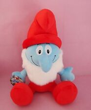 PAPA SMURF 42CM LARGE THE SMURFS VINTAGE PLUSH DOLL KID BABY SOFT TOY COLLECTION
