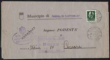 STORIA POSTALE RSI 1944 Piego da Codega di Sant'Urbano per Casarsa (FS1)