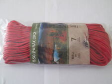 "550 PARACORD 5/32"" X 100' MIL SPEC TYPE lll 7STRAND PARACHUTE  CORD MADE IN USA"