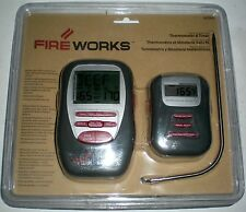 BBQ BARBECUE GRILL TEMPERATURE THERMOMETER TIMER DIGITAL WIRELESS PAGER ALARM