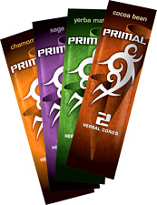 4 Packs of 2 - Variety of Primal Herbal Wraps. Non Tobacco Non Nicotine.
