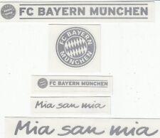 5 Aufkleber + Auto + FC Bayern München + Silber + NEU + Waschanlagensicher + #2