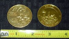 1971-72 VINTAGE APOLLO 15 & 16 GOLD COMMEMORATIVE COIN SET (2) FREE S&H WH3 M