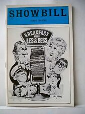 BREAKFAST WITH LES AND BESS Playbill KEITH CHARLES / HOLLAND TAYLOR NYC 1983