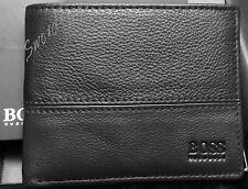 NEW HUGO BOSS WALLET 'PALLINO' BI-FOLD BLACK SMOOTH LEATHER ; *MADE IN GERMANY*