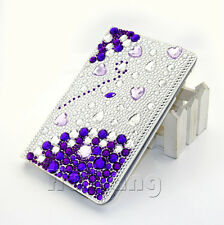Bling Crystal Love Heart Leather Case Cover For Apple iPad 2 3 4 P370 + Film+Pen