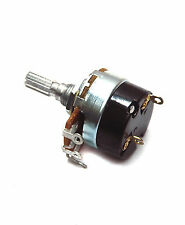 5pc Potentiometer 24mm B type + AC On/Off Switch 1A R=1 2 5 10 50 100 250 500K