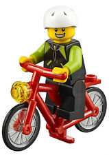 NEW LEGO CYCLIST w/BIKE 60134 fun in the park minifigure minifig bicycle rider