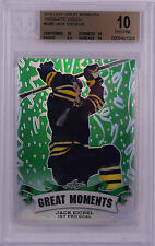 JACK EICHEL 2016 LEAF GREAT MOMENTS PRISMATIC GREEN ROOKIE 1/5 BGS 10!