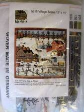 Village Scene DMC Needlepoint Kit 14 Ct Made in Germany
