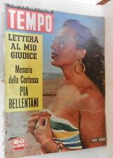 TEMPO 25 ottobre 1956 Yvonne Samson Masina Walter Chiari Bellentani Lina Canuso