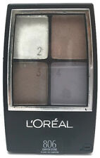 1- L'OREAL QUAD PALETTE EYE SHADOW- #806 CANYON STONE-look at pictures carefully