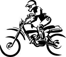 Medio de adhesivo de vinilo calcomanía Motocross Suciedad Bicicleta Moto Racing 003