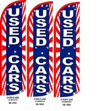 Used Cars King Size Windless 38 x 138 in Polyester Swooper Flag Pk of 3