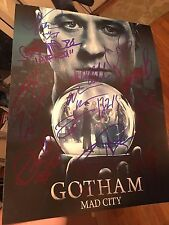 GOTHAM CAST SIGNED 11X14 PHOTO BEN MCKENZIE AUTOGRAPH! MAGGIE GEHA! PSA DNA!