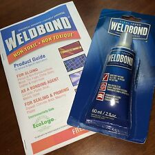 2 oz WELDBOND Glass Mosaic Tile Glue Adhesive Sealer NonToxic With Instructions