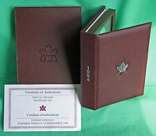 1994 Canada LTD Ed Proof 7 Coin Double Dollar Set Dogsled Silver $ Red Cover COA