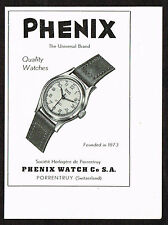 1940's Small Vintage 1949 Phenix Watch Co. - Paper Print AD