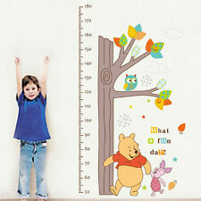 WINNIE THE POOH Height Chart Kid's Hight Home Measure Nursery Wall Sticker Decal