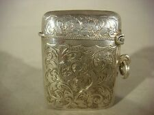 Vintage Sterling Silver Vesta Case Made By T..H Birmingham Good Condition