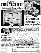 1937 small Print Ad of Coleman Lamp and Stove Company Safety Range Oven