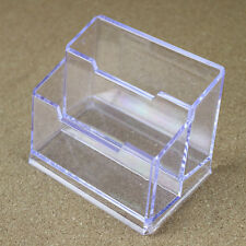 Office Transparent 2Layers Table Desk Business Card Holder Stand Display Kit