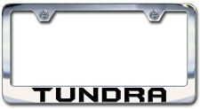 NEW Toyota Tundra Chrome License Plate Frame Engraved Block Lettering