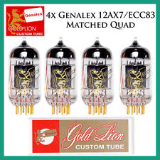 New 4x Genalex Gold Lion 12AX7 / ECC83 | Matched Quad / Quartet / Four Tubes