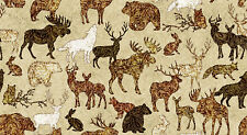 FABRIC Quilting Treasures ~ WOODLAND SPIRIT ~ Dan Morris (24364 T) by 1/2 yard