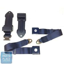 64-66 Chevrolet Cars Bowtie Lift Latch Style Front Seat Belts Dark Blue - Pair