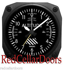 "New TRINTEC ALTIMETER Alarm Clock Aviator Altitude Portable for Travel 3.5"" DM60"
