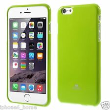 "Genuine MERCURY Goospery Lime Green Jelly Case Cover For iPhone 6/6s PLUS (5.5"")"