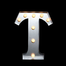Marquee Light Letter 'T' LED Metal Sign (10 Inch, Battery Operated)