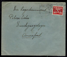 1941 Rotterdam Holland Cover to Commandant Amersfoort KZ Concentration Camp