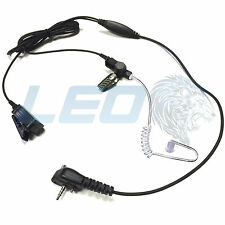 2-WIRE EARPIECE HEADSET MIC KIT + CLEAR TUBE FOR VERTEX STANDARD TWO WAY RADIO