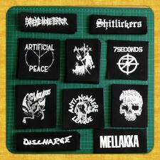 5x PUNK PATCHES Discharge social distortion nausea gbh misfits infest gism crass