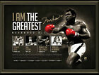 MUHAMMAD ALI I AM THE GREATEST FASCIMILE SIGNED OFFICIAL SPORTS PRINT POSTER