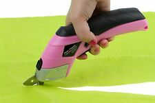 Pink Power 3.6V Lithium Ion Cordless Scissors w/ 2 Blades for Fabric and Crafts