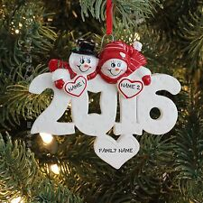 2016 Couple family of 2 Personalized Christmas Tree Ornament Holiday Gift