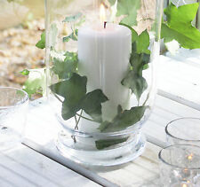 SLIGHT SECOND ANTIQUE SHABBY CHIC LARGE  GLASS HURRICANE LAMP CANDLE CHRISTMAS
