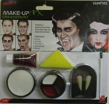 VAMPIRO Halloween Fancy Dress Compongono Vernice Viso Set Sangue & Zanne Da Smiffys