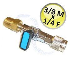 3S RUBINETTO A SFERA sae 1/4 F x 3/8 M GAS REFRIGERANTE R410 R407 R22 R134